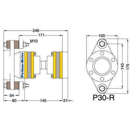 P30-R_mitat - Python-Drive -nivelyksikkö