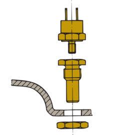 Vetus pakokaasun lämpötila-anturi XHSM - veneakselisto.com verkkokaupasta