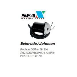Evinrude/Johnson trimmimoottori PRESTOLITE. 391264, 393259, 393988