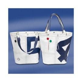Trend Marine Sea Girl ostoslaukku Valkoinen/Navy. Purjekangas laukku